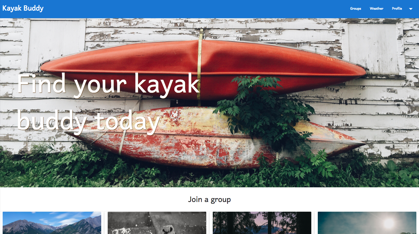 Screenshot of KayakBuddy
